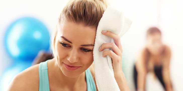 take care of your skin during a workout